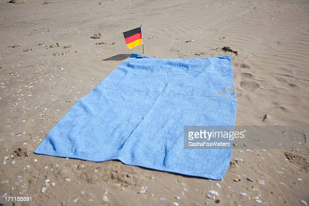 beach towel and German flag