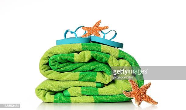 Beach towel flip-flop starfish