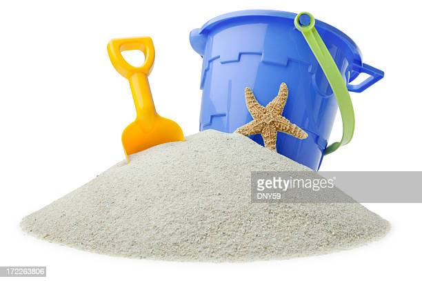 beach toys - bucket stock pictures, royalty-free photos & images