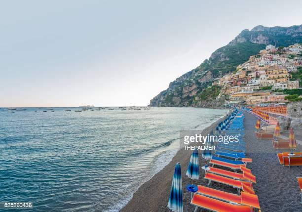 Beach umbrellas Amalfi coast