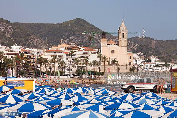 Beach Umbrellas and Sitges