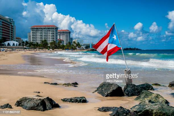 beach vacation in san juan, puerto rico - puerto rico stock pictures, royalty-free photos & images