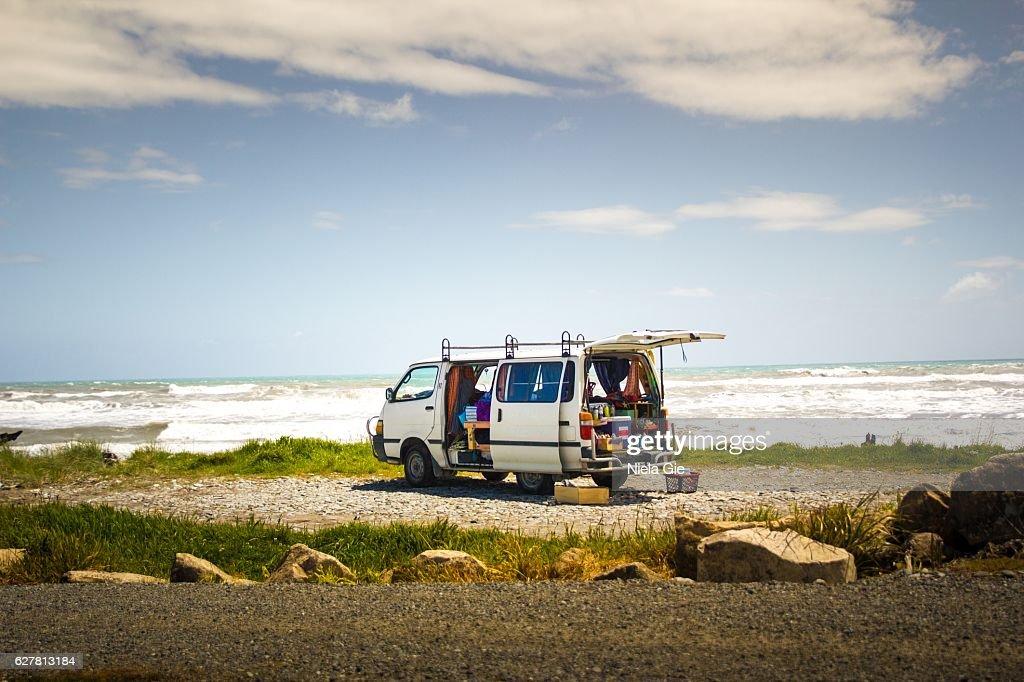 Beach van : ストックフォト