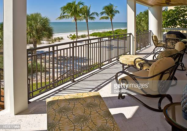 Beach View from Veranda of Estate Home in Florida