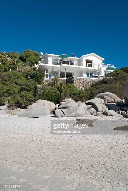 beach villa - beach house stock pictures, royalty-free photos & images
