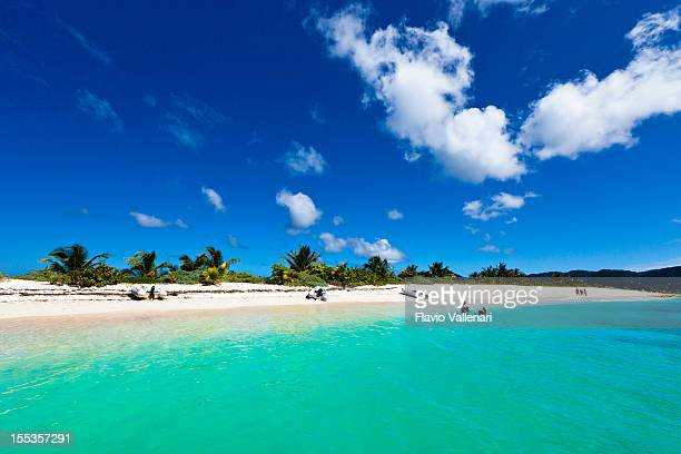 Beach visitors enjoying the weather on Sandy Island, Grenada