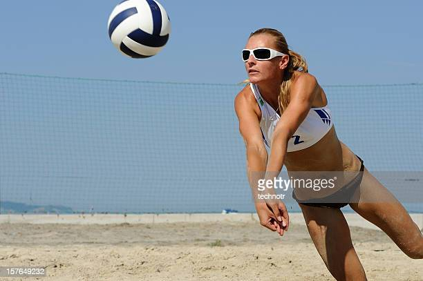 Beach volley attractive action