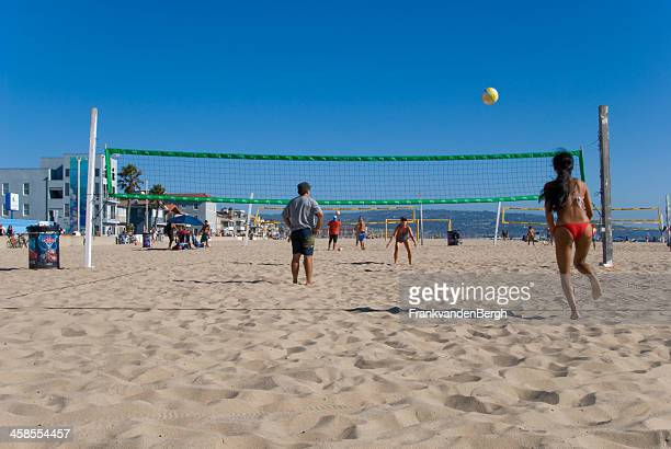 beach volley - hermosa beach stock pictures, royalty-free photos & images