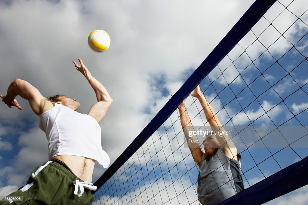 Beach Volleyball Game : Stock Photo