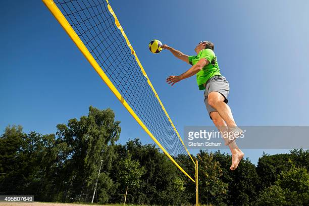 beach volleyball player, 44 years, schorndorf, baden-wurttemberg, germany - beach volleyball stock pictures, royalty-free photos & images