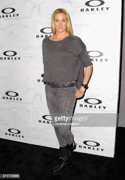 Beach Volleyball player Kerri Walsh celebrates the past present and future of Oakley's design and technology at the brand's Disruptive by Design...