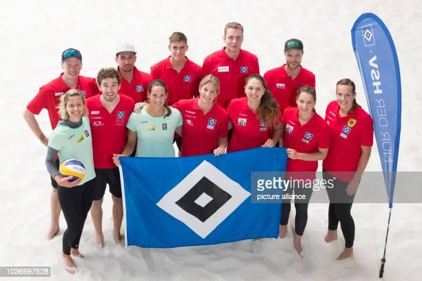 Beach volleyball players Laura Ludwig, Markus Bockermann, Lars Flugge, Jonathan Erdmann, Kira Walkenhorst, Max Bentzien, Isabel Schneider, Nils...