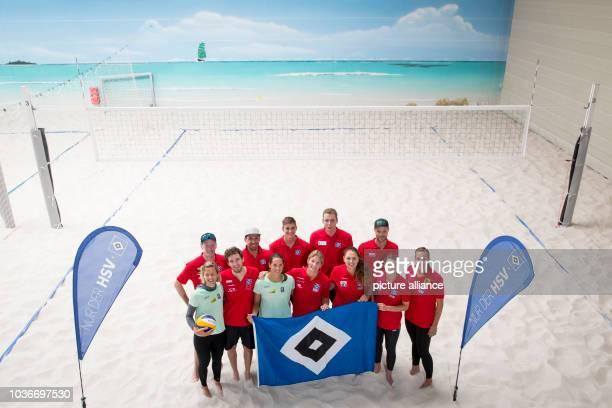 Beach volleyball players Laura Ludwig, Markus Boeckermann, Lars Fluegge, Jonathan Erdmann, Kira Walkenhorst, Max Bentzien, Isabel Schneider, Nils...