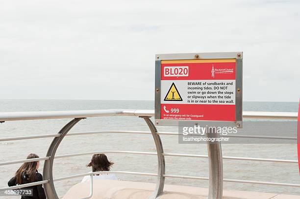 Beach Warning Sign being Ignored