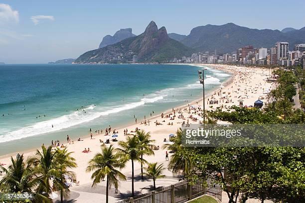 Plage d'Ipanema à Rio de Janeiro