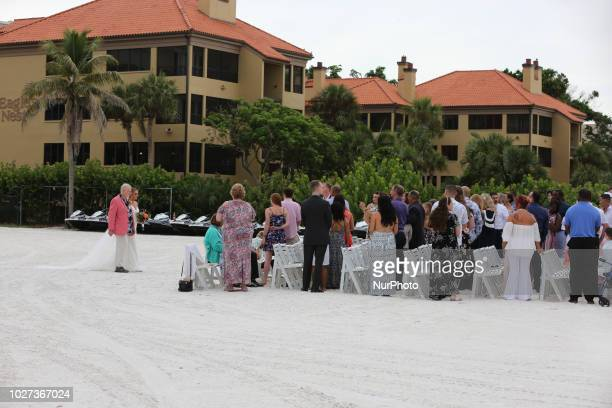 Beach wedding on the beautiful San Marco Beach on Marco Island Florida USA on August 30 2018