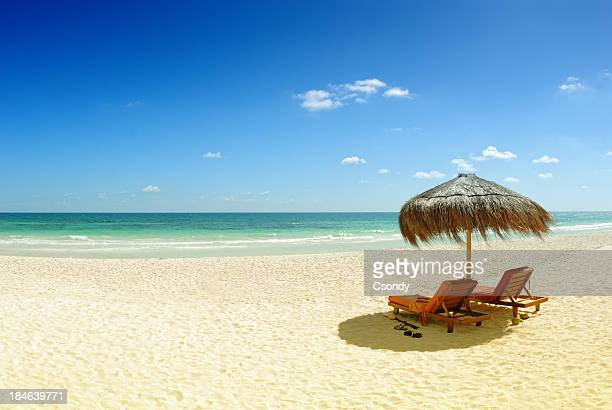Beach with gold sand and blue water