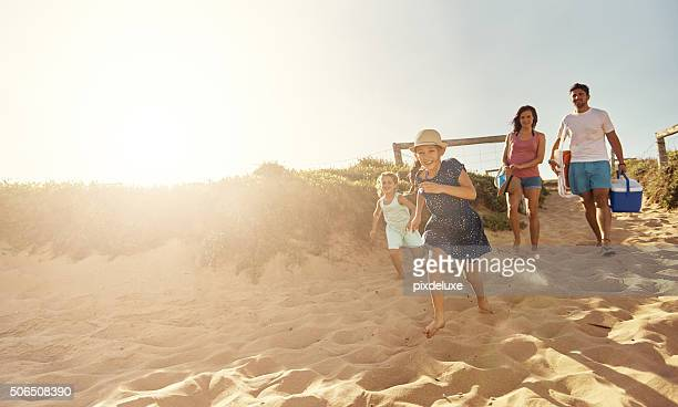 beach your children well - beach stock pictures, royalty-free photos & images