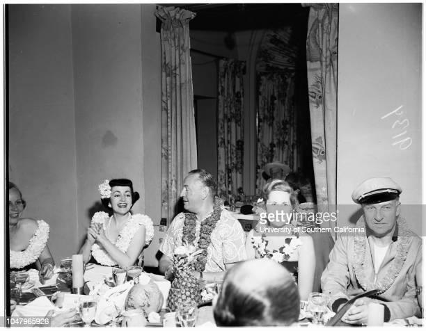 Beachcomberssociety April 22 1951 Mr Mrs John MurdockMr Mrs Harold PauleyPat RobertsLois CowanAnn MillerBill O'ConnorJosephine WayneMrs Alice...