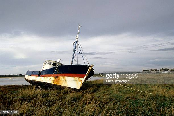 Beached Fishing Boat in Normandy