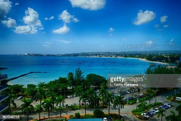 beaches in bridgetown, barbados - bridgetown barbados stock pictures, royalty-free photos & images