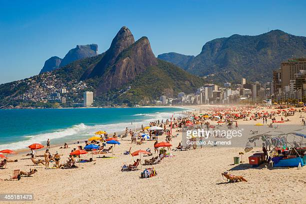beaches in rio de janeiro. - rio de janeiro stock pictures, royalty-free photos & images