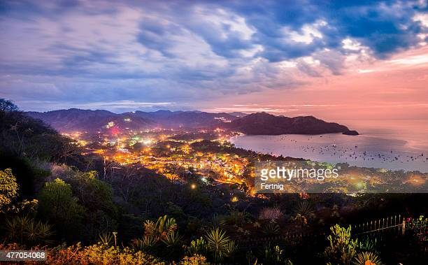 beaches of coco, guanacaste, costa rica at dusk - guanacaste stock pictures, royalty-free photos & images