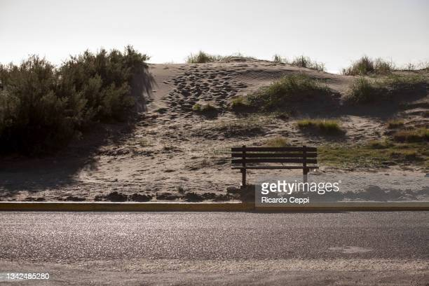 beaches on the sea coast - dunes arena stock pictures, royalty-free photos & images
