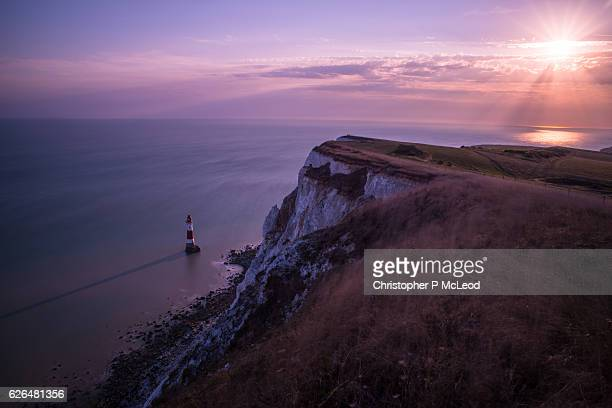 Beachey Head sunset.