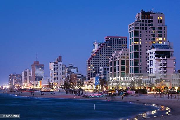 beachfront hotels - tel aviv stock pictures, royalty-free photos & images