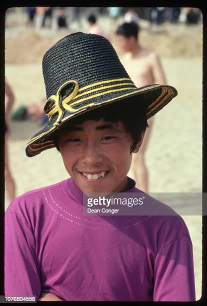 Beachgoer at Beidaihe