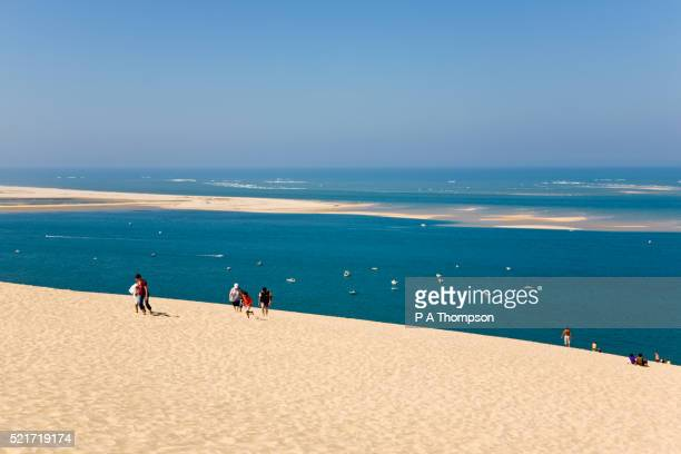 Beachgoers on the Great Dune of Pyla in France