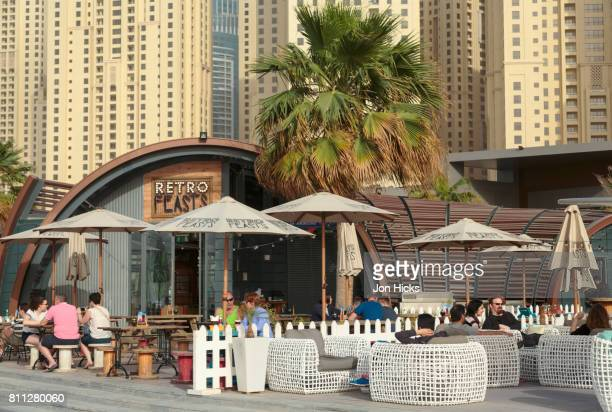 A beachside cafe on The Walk At JBR, Dubai.