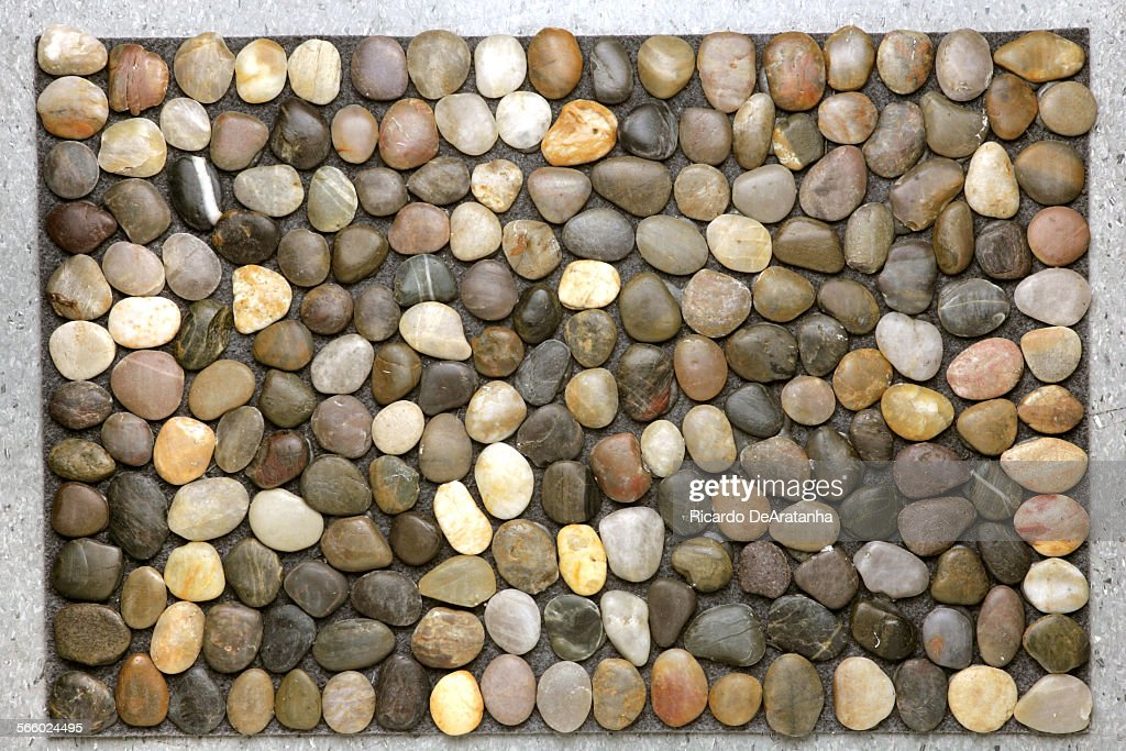 beachstone doormat by design ideas pebble doormats are really cool