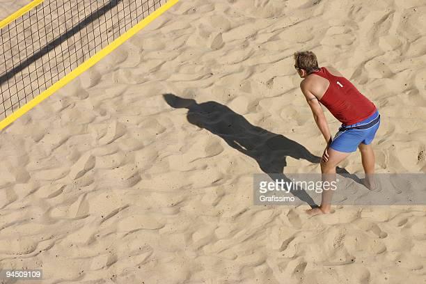 beachvolley waiting for the ball - strandvolleyboll bildbanksfoton och bilder