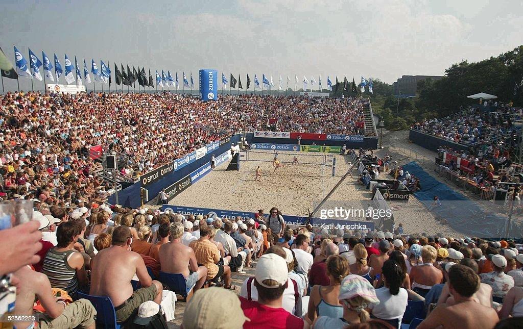 Deutsche Meisterschaften 2004, Timmendorf; Finale Stephanie POHL, Okka RAU / Rieke BRINK-ABELER, Hella JURICH