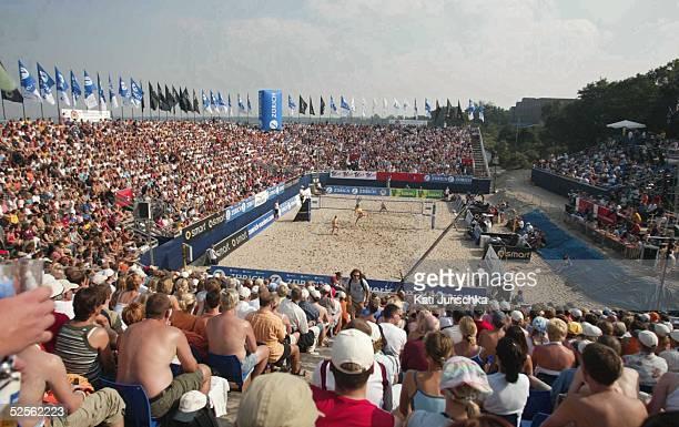 Beachvolleyball Deutsche Meisterschaften 2004 Timmendorf Finale Stephanie POHL Okka RAU / Rieke BRINKABELER Hella JURICH 040904