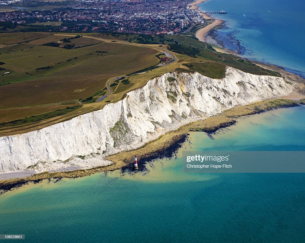 Beachy Head Aerial View : Stock Photo