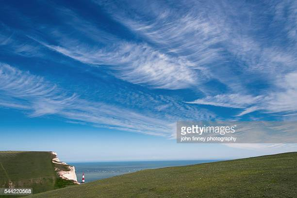 Beachy Head and Birling Gap with the White Cliffs. East Sussex. England. UK. Europe.