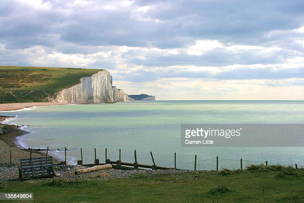 beachy head and seven sisters - beachy head stock photos and pictures