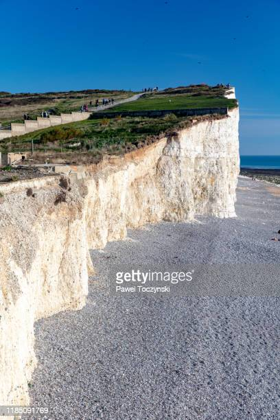 beachy head - dramatic and highest chalk cliff in britain located in east sussex, england, 2018 - {{ collectponotification.cta }} stock pictures, royalty-free photos & images