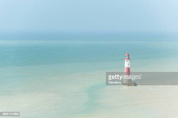 beachy head lighthouse, east sussex, england, uk - beachy head stock photos and pictures