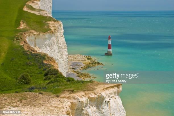 beachy head lighthouse - イーストサセックス ストックフォトと画像