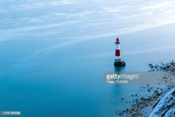 beachy head lighthouse - eastbourne stock pictures, royalty-free photos & images