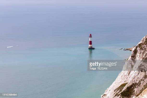 beachy head lighthouse - east stock pictures, royalty-free photos & images