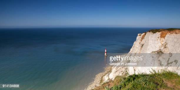 beachy head lighthouse - beachy head stock photos and pictures