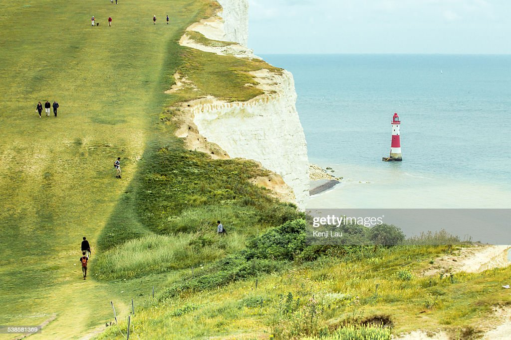 Beachy Head lighthouse, Sussex, UK : Stock Photo