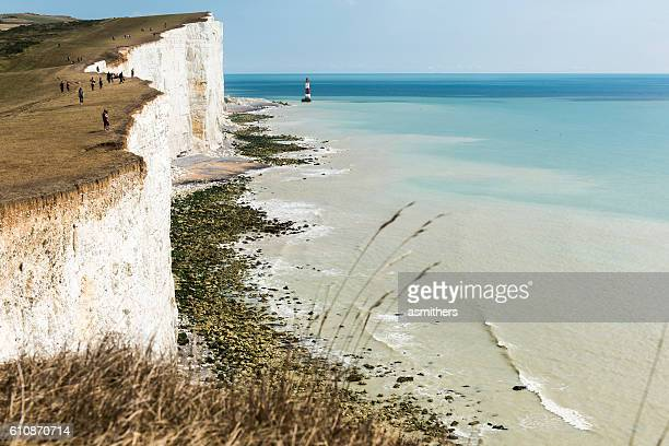 beachy head - seven sisters cliffs stock photos and pictures