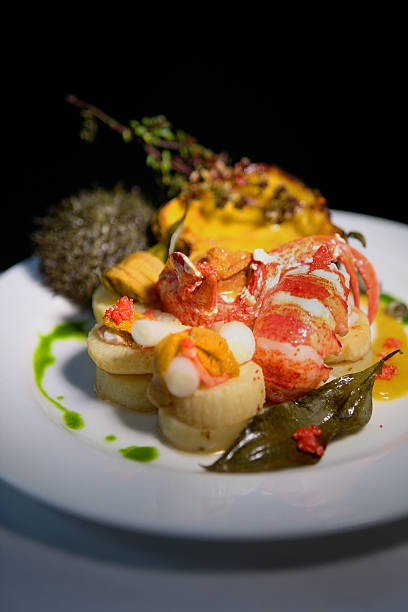 Beacon Hill Bistro offers a New Year's Eve main course of Mass soft shell lobster, with sea urchin bisque, baby acorn squash, celeriac and potato...