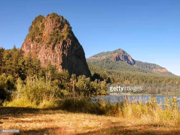 beacon rock state park-columbia river gorge - meriwether lewis stock photos and pictures
